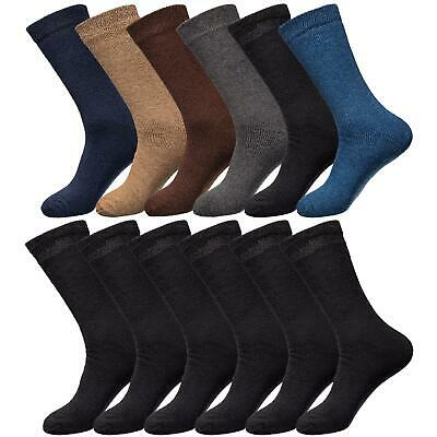 Mens Thermal Socks Brushed Winter Warm Thick Sock Size 6-11 UK 3, 6 & 12 Pairs • 3.49£
