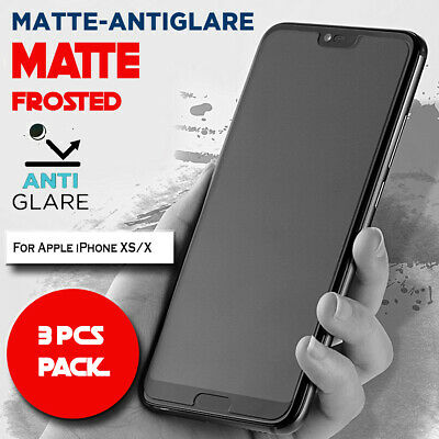AU7.99 • Buy 3X Matte Frosted Antiglare Full Cover Screen Protector For Apple IPhone XS/X