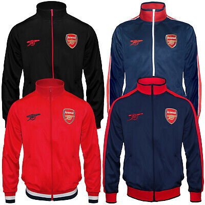 Arsenal FC Official Football Gift Mens Retro Track Top Jacket • 29.99£