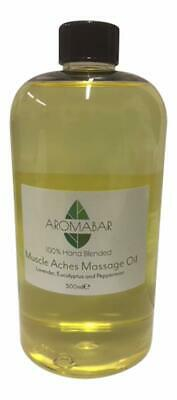 Aromabar Massage Body Oil 500ml + Pump Dispenser *Choose Blend* 100% Natural  • 19.99£