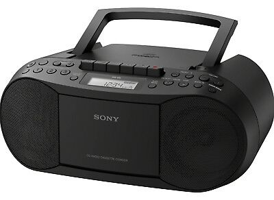 $ CDN70 • Buy Sony CD Player Boombox With Cassette Recorder And Radio, CFD-S70 Black
