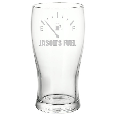 Personalised Engraved Fuel Gauge Pint Glass Car Lover Gift • 8.75£