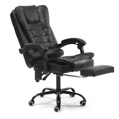AU104.99 • Buy Executive Office Massage Chair PU Leather Recliner Computer Gaming Seat Chairs