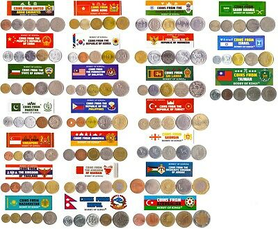 £7.21 • Buy 5 Different Coins From Countries In Asia And Middle East.old Currency Collection