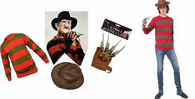 Unisex Kids Freddy Krueger Halloween Horror Fancy Dress Hat Jumper No Gloves Inc • 16.99£