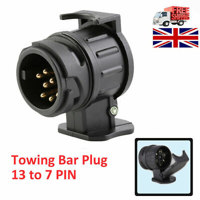 13 To 7 Pin Trailer Truck Electric Towing Converter Tow Bar Plug Adaptor Socket • 5.59£