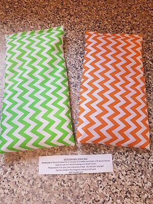 £2.80 • Buy Microwave Wheat Bag/chill - Orange Or Lime Chevron -  6  X 10  Approx