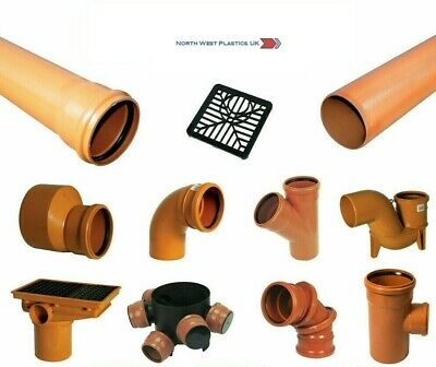 110mm Underground Drainage Pipe 1m Bends Couplings Bottle Gully Branch Junction • 38.50£