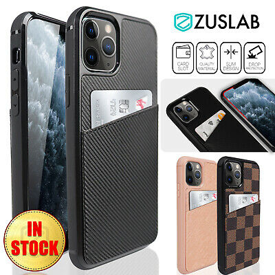 AU15.95 • Buy For IPhone 11 Pro Max Case ZUSLAB Luxury Card Slot Holder Leather Wallet Slim
