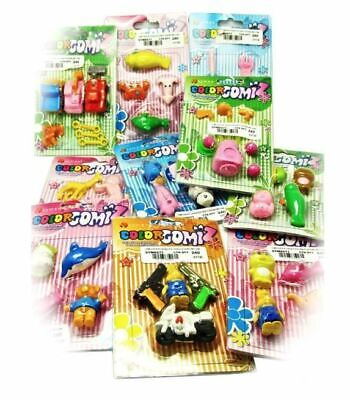 Gomz Novelty Rubbers Pack Of 4 (Random) Erasers For Schools Kids • 1.80£
