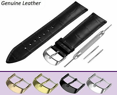 £7.45 • Buy For ACCURIST Ladies Watch Black Genuine Leather Strap Band Buckle Clasp NEW