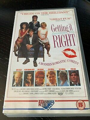 GETTING IT RIGHT John Gielgud, Helen Bonham, Carter Peter Cook VHS VIDEO  • 12.99£