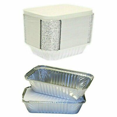 Takeaway Foil Food Containers With Lids Foil Trays With Lids Sizes No1, No2, 6A • 4.75£