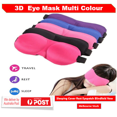 AU3.96 • Buy 3D Foam Padded Travel Eye Mask Sleep Sleeping Cover Rest Eyepatch Blindfold AU