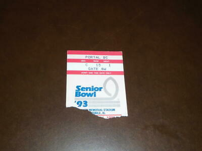 $4.99 • Buy 1993 Senior Bowl College Football Ticket Stub Eric Hunter Purdue Mvp