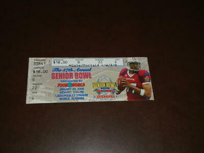 $9.99 • Buy 2006 Senior Bowl College Football Ticket Stub Sinorice Moss Miami Mvp
