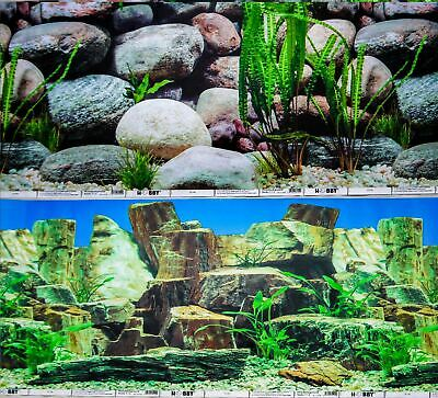 AU16.96 • Buy Aquarium Fish Tank Background Double Sided 12  / 30cm High - 2 To 10 FT Lengths