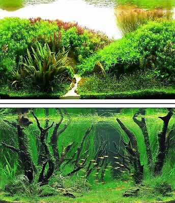 AU15.45 • Buy Aquarium Fish Tank Background Double Sided 16  / 40cm High - 2 To 10 FT Lengths
