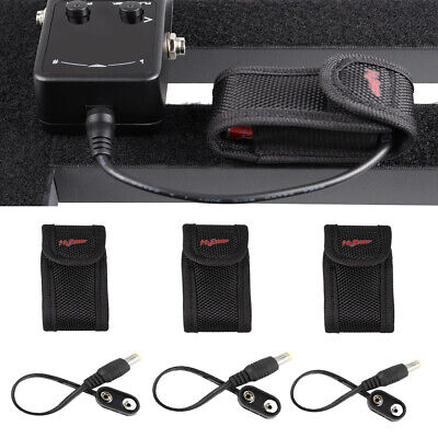 $ CDN12.44 • Buy 3Pcs Effect Pedal Pickup 9V Battery Case Bag + Battery Clip Snap Connector Cable