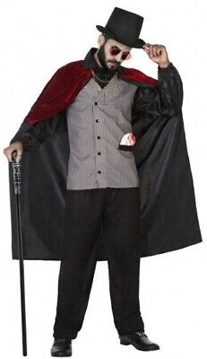 Mens Victorian Steampunk Vampire Halloween Carnival Fancy Dress Costume Outfit • 24.99£