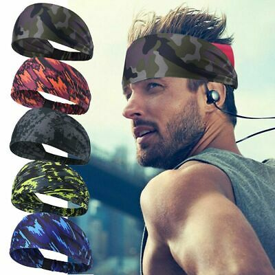 $5.99 • Buy Mens Women Sweat Sweatband Headband Yoga Gym Running Stretch Sports Head Band