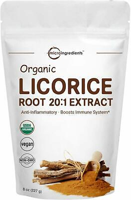 Organic Licorice Root Extract 20:1 Powder, 8 Ounce, Positively Helps Soothe Coug • 18.37£