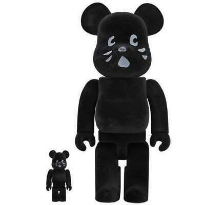 $200 • Buy Medicom Japan NYA Flocky 100% And 400% Bearbrick Figures Collectibles Art Black