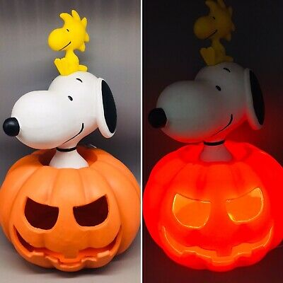 $124.99 • Buy Peanuts Snoopy Woodstock Pumpkin LED Lighted Halloween Blow Mold Greeter 20  NEW