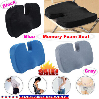 £9.79 • Buy Memory Foam Wedge Cushion Car Seat, Office Chair Back And Coccyx Support