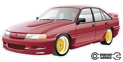 AU3.80 • Buy VN SS Group A Holden Commodore Sticker With Gold Rims