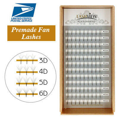 AU8.96 • Buy Lashview .07mm Set 3-6D Premade Fans Eyelash Extensions Semi-permanent Volume