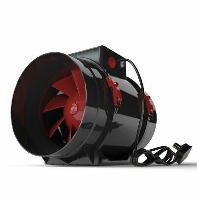 £52.99 • Buy Black Orchid Hybrid Flo Twin 2 Speed Grow Room Tent Extraction Fan Hydroponics