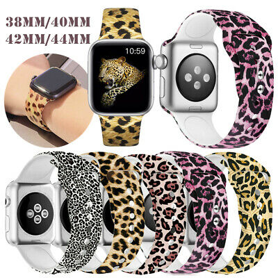 $ CDN11.19 • Buy 38mm-44mm For Apple Watch Band Print Design Rubber Replacement Series 5 4 3 2 1