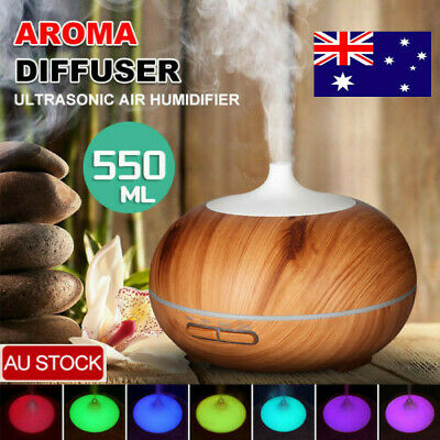 AU24.99 • Buy Essential Oil Diffuser Aromatherapy Air Purifier Aroma Humidifier LED Lamp 550ml