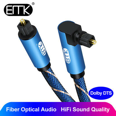 $33.20 • Buy EMK Right Angle Optical Audio Cable SPDIF Digital Toslink 90° Degree Optic Cable