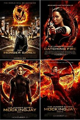 $ CDN43.73 • Buy The Hunger Games Movie Poster Collection (Set Of 4) Catching Fire - 11x17 13x19