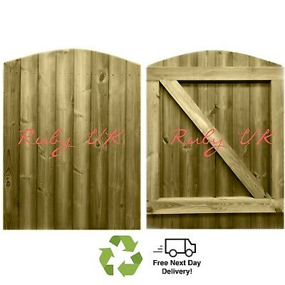 £159.95 • Buy Curved Top Tongue & Groove 4ft X 3ft Side Gate, Pedestrian Gate, Garden Gate.