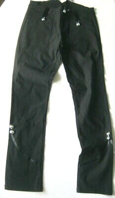 Smart Black Stretch Ladies Trousers 10 Rockabilly 50s Military Look • 18.99£