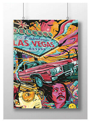 Trippy Abstract Las Vegas Movie Poster Movie Film Wall Art A3 A4 Size • 6.95£