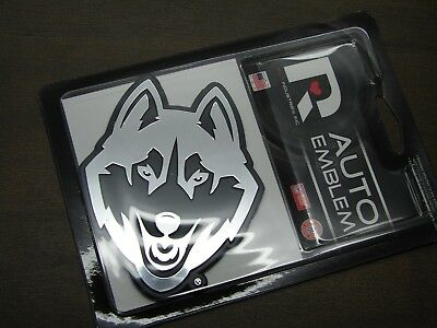£7.27 • Buy NCAA UCONN HUSKIES EMBLEM STICKER DECAL FOR CARS University Of Connecticut