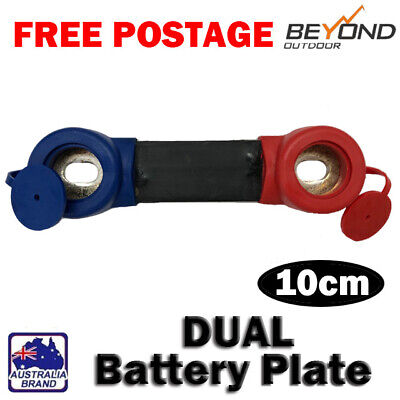 AU39 • Buy USED DUAL BATTERY CABLES PLATE SOLAR BANK CHARGE CABLES 10cm 50cm 155cm BLACK