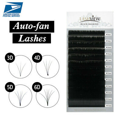AU13.67 • Buy Lashview .05 .07 Auto-fan Lashes Blossom Volume Eyelash Extensions 1s Fast Fan