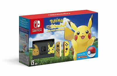 $549.87 • Buy Nintendo Switch Console Bundle- Pikachu & Eevee Edition With Pokemon: Let's Go..