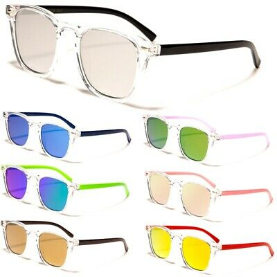 AU12.95 • Buy Retro Sunglasses - Mens / Womens - Slim Clear Frame - Mirror Lens - Free Post