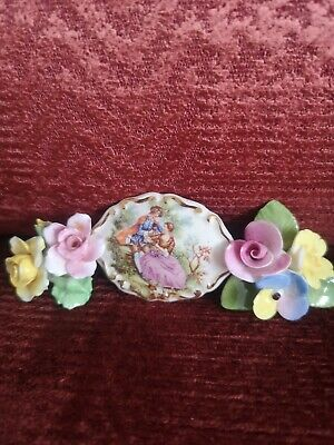 £16 • Buy Vintage Limoges Style Brooch + Two Others