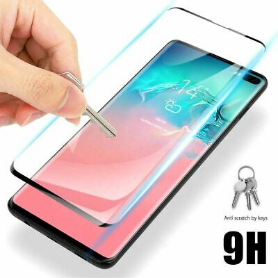 AU6.75 • Buy Tempered Glass Full Cover Screen Protector For Samsung Galaxy S10 5G S10+ Plus E