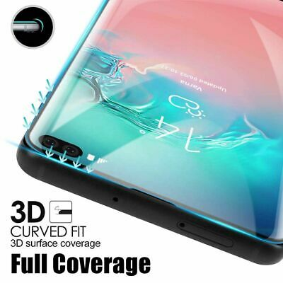 AU6.75 • Buy Tempered Glass Full Cover Screen Protector For Samsung Galaxy S10 Plus 5G E S9