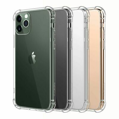 AU5.45 • Buy Shockproof Tough Gel Clear Case Cover For Apple IPhone 11 12 Pro X 5 6 7 8 Plus