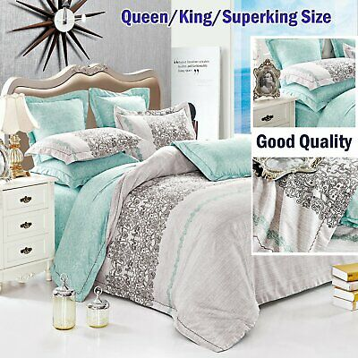AU39.88 • Buy Reversible Quilt/Duvet Cover Set Superking/King/Queen Size Bed Doona Covers