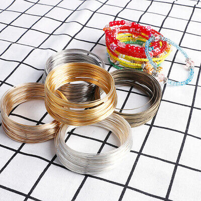 Memory Wire Bracelet Loops Gold Silver 60mm Jewellery Making Bangles- HD078 • 1.99£